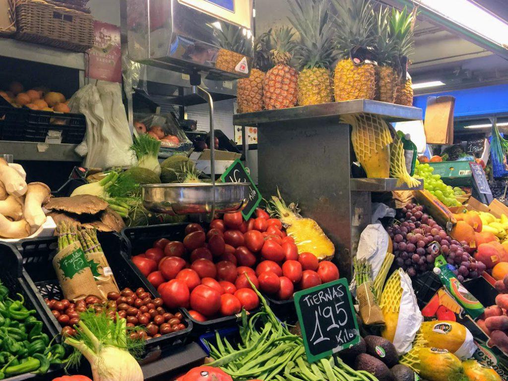 markt in Malaga. Nederlandse tapas tour