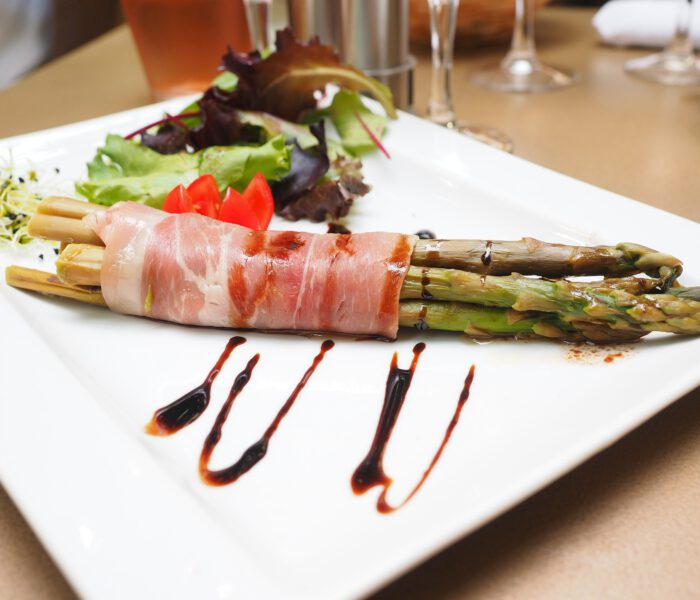 Recept groene asperges met ham – tapas